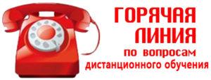 """Горячая линия """"По вопросам дистанционного обучения"""""""