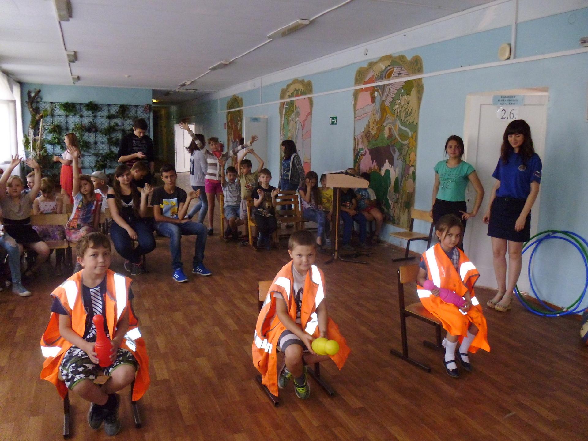 """День пожарной безопасности в летнем оздоровительном лагере """"Солнышко"""""""